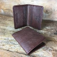 Oak Bark Leather Credit Card Case