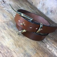 Quick Release Bridle Leather Belt 1 1/2""