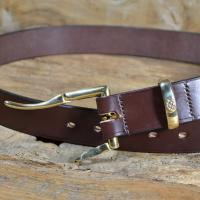 Quick Release Bridle Leather Belt 1 1/4""