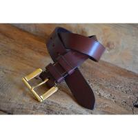 "Smuggler Oak Bark Bridle Leather Belt - Size 40"" Waist - Sample stock"