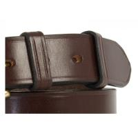 "Worcester Bridle Leather Belt in Black & Nickel plate - Size 40"" - slight surface marks"