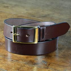 "Audley Bridle Leather Belt - 1 1/2"" width in Black & Nickel plate size 31"" Waist - perfect return"