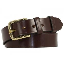 "Broadway Bridle Leather Belt - Burgundy & Solid Brass - Size 31"" Waist (32"" to middle hole)- perfect returned item"