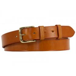 Cropthorne West End Bridle Leather Belt in Light Havana