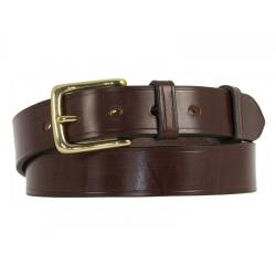 Cropthorne West End Leather Belt in Black with Nickel plated solid brass buckle - Size 28""