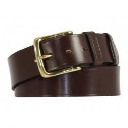 "Himbleton Bridle Leather Belt - Black and Nickel plate - Size 30"" Waist - Perfect returned item"