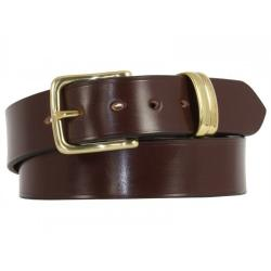"Kensington Bridle Leather Belt in Conker colour & Brass - Size 35"" Waist - Perfect return"