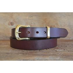 "Miller Oak Bark Bridle Leather Belt  - 1 1/4"" width - 38"" Waist - second - tried on marking slight"