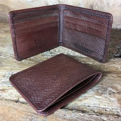 Oak Bark Leather Billfold Wallet