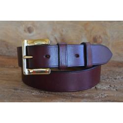 "Smuggler Oak Bark Bridle Leather Belt - Size 41 1/2"" Waist to middle hole of 7 x 3/4"" spacing - Perfect returned item"