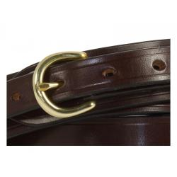 "Stockwood Wide Bridle Leather Belt in Nut & Brass - Size 35"" Waist - Perfect (made by mistake)"
