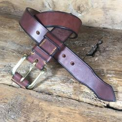 Thatcher Oak Bark Bridle Leather Belt