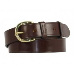 "Worcester Bridle Leather Belt - Nut - Brass - 40"" Waist"