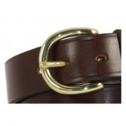 "Worcester Bridle Leather Belt in Nut & Brass - Size 41"" - perfect return"