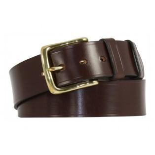 "Himbleton Bridle Leather Belt - Black and Nickel plate - Size 38"" Waist - Sample stock"