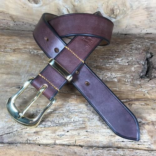 Miller Oak Bark Bridle Leather Belt