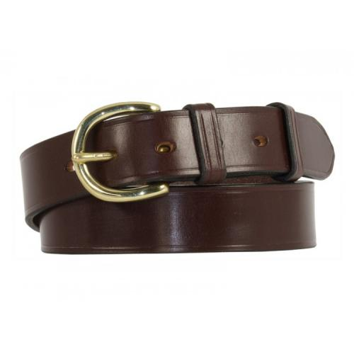 "Worcester Bridle Leather Belt in London Tan & Brass - Size 34"" - slight surface marks"